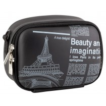 Geanta camera foto Rivacase 7081 (PU) Black (newspaper)