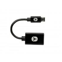 Goodis 5174311 Cablu adaptor otg micro-USB - USB 10 cm negru