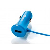 Goodis 5361703 Incarcator auto 5v/3,4a cu cablu lightning si port USB blue