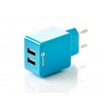 Goodis Incarcator priza cu 2 iesiri USB 1A+2.4A 5363890 Blue