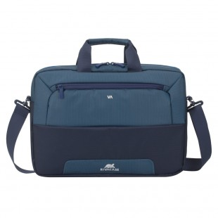 Geanta laptop Rivacase 7737 steel blue/aquamarine, 15.6""