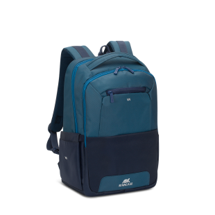 Rucsac laptop Rivacase 7767 steel blue/aquamarine, 15.6""