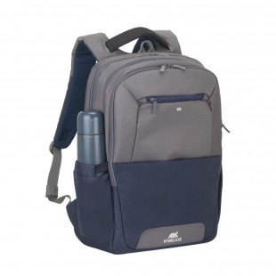 Rucsac laptop Rivacase 7777 steel blue/grey, 17.3""